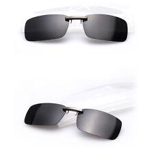 Polarized Clip On Sunglasses Lens Day Night Vision Driving Glasses UV400