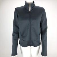 Athleta Women's Size Small Waffle Full Zip Collar Athletic Track Jacket Black