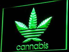 Cannabis Marijuana Marihuana Hanf Weed Haschisch LED Leuchtschild Werbung Bar