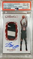 Bam Adebayo 2017-18 Flawless VERTICAL RPA #3/15 RC AUTO - PSA 10 GEM MINT POP 1