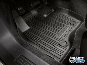 20 thru 21 Ford Explorer OEM Genuine Tray Liner Style Molded Floor Mat Set 4-pc