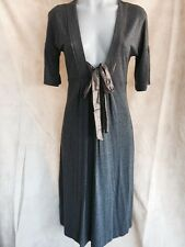 Women's Sussan Charcoal Open Front Mid Length Dress Size XS
