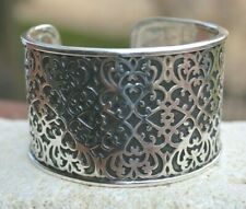 Silpada Sterling Silver Wide Cuff Bracelet Filigree Scroll Statement Piece B1697