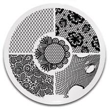 Stamping Schablone Stempel Platte Spitze Netz Y005