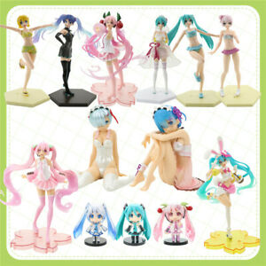 Hatsune Miku Anime PVC Action Figure Collection Model Toy Kids Doll Gift