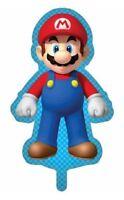 Super Mario Bros Mario Nintendo Giant Foil Helium Party Balloons Twin Pack NEW