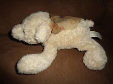 "Bear Chosun 8"" laying off white cream colored stuffed plush bean bag"