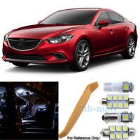 For Mazda 6 GJ GL Premium LED Interior Kit 10 SMD Bulbs Xenon White 2009-2018