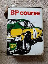 Bidon huile 2 litres BP Course Ferrari (oil can tin oil öldose känne)