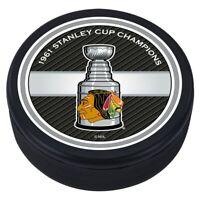 Chicago Blackhawks 3D Textured 1961 NHL Stanley Cup Souvenir Hockey Puck