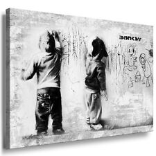 LEINWAND BILDER KEILRAHMEN fertiges Wandbild Kunstdruck A0 BANKSY Graffiti Junge