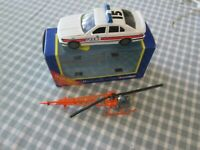 Dinky No.732 Bell Police Helicopter & Corgi Police BMW-Unboxed /Boxed