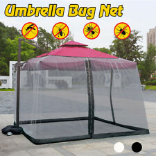 9/10FT Umbrella Table Screen Cover Bed Canopy Mosquito Net Insect Outdoor Patio