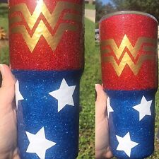 Wonder Woman Glitter Stainless Steel Travel mug Mossy Oak Rtic Yeti Tumbler