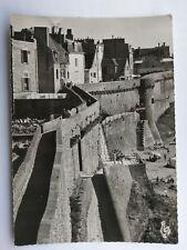 Saint-Malo Brittany France Vintage B&W Postcard c1960s Les Remparts