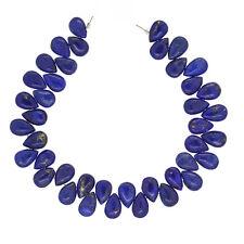 40 Natural Lapis Lazuli Flat Pear Beads 6x9mm Grade A #72037