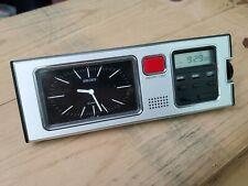 Vintage Seiko Quartz Digital Lcd /anolog travel Alarm Clock, working w bat {003