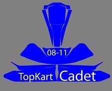 TopKart Cadet 08-11 Go Kart  Graphics Template vector EPS