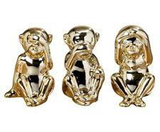 WESTWING NEU LUXUS DESIGER PORZELLAN AFFEN VIVIE 3-TEILIG GOLD DEKORATION EDEL