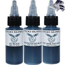 U.S. Tattoo Supply 2oz Black Ink Set - All 3 Bottles of U.S. Tattoo Black Ink!