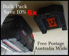 6x Milwaukee 18v Battery Holder / Storage Mount / Bulk Pack - SAVE 10%