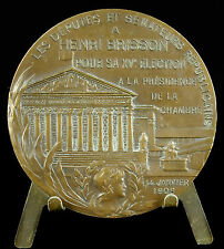 Medaille Henri Brisson président de la chambre des députés 1908 E Daussin medal