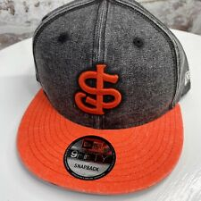New Era San Jose Giants Snapback Distressed Canvas Style Hat