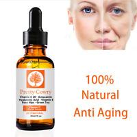 30ml Vitamine C Sérum Visage Éclairci Anti-âge Rides Facial Acide Hyaluronique