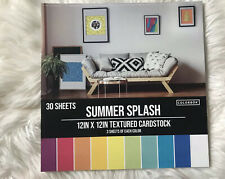 "12""x12"" Summer Splash Textured Cardstock - 30 sheets"