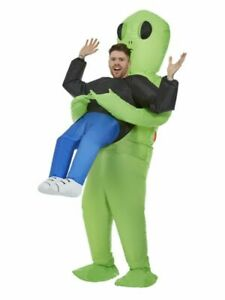 Adult Mens Inflatable Alien Abduction Costume Halloween Funny Fancy Dress Outfit
