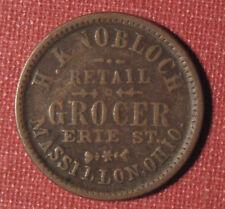 1863 CIVIL WAR TOKEN, STORE CARD - H. KNOBLOCH, MASSILLON, OH, 535D-4a, R4!