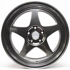 18x8.5 +35 Varrstoen MK0 5x114.3 HYPER BLACK Wheels RIMS ( SET OF 4 ) 5X4.5