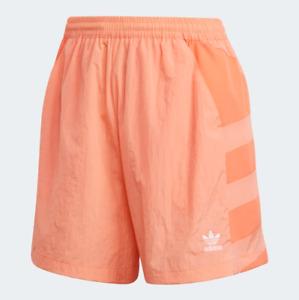 Adidas Women's Large Logo Shorts, Chalk Coral / Semi Coral