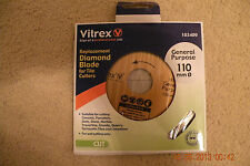 Vitrex replasment diamond blade for tile cutters 103409  size 110 mm