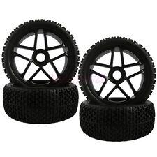 SET RC 1/8 Off-Road Car Buggy Foam Rubber Tyre Tires Wheel Rims Blcak 85B-804