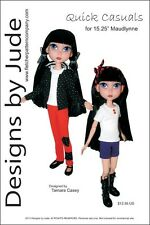 "Casuals Doll Clothes Sewing Pattern for 15.25"" Maudlynne LittleMissMatched"