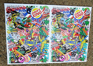 RC DRIFT STICKER BOMBING A4 SHEET stickers decals ideal for 10th scale