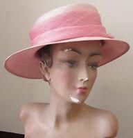 Cappello da cerimonia /sposa - color rosa /nuovo con etichetta - elegante