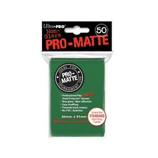 50 PRO MATTE DECK PROTECTORS Green Verde MTG MAGIC Ultra Pro