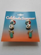 Celebrate Summer Collectible Earrings. Beach Theme.