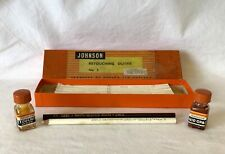 Vintage Johnson Photo Retouching Kit Box, DRIED OUT BOTTLES