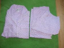 Vtg 1960/70s Cotton Flannel Lilac Purple Pj Pajama Sz 36 Small Elastic Stretched