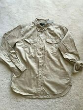NWT NEW J Crew button front top long sleeves pockets  Size S SMALL 100% cotton