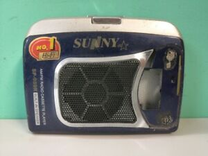 Pocket Cassette audio player with radio Sunny SP-959R Work condition