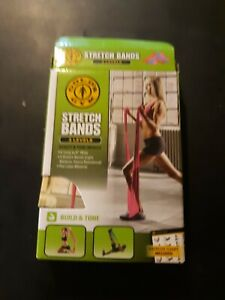 Golds Gym Stretch Bands, 3 Bands Light,medium & Heavy Resistance Nip