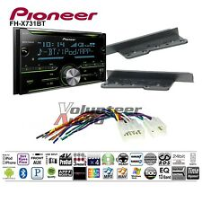 Pioneer Double Din CD Player Radio Dash Install Kit Harness Antenna Bluetooth