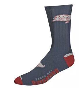 Tampa Bay Buccaneers NFL For Bare Feet Charcoal Flex Top Crew Socks