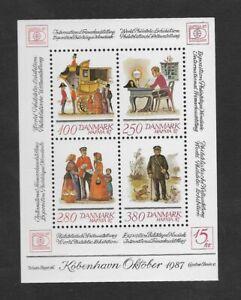 Denmark Stamps : Denmark Exposition Philatelic World Year 1987 Mini Sheet