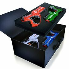 NEW Dynasty Toys Laser Tag Blasters Set for Kids Multiplayer 4 Pack Family Game