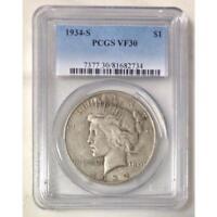 1934 S Peace Dollar PCGS VF30 *Rev Tye's* #273470